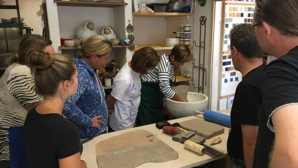 Pottery class at Keramik Gömmel