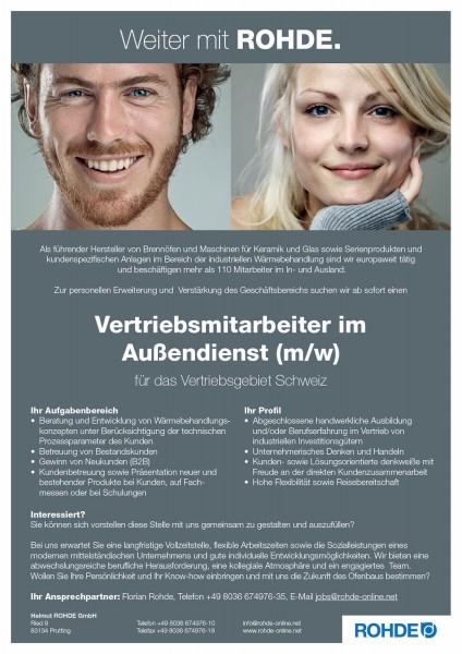 Vertriebsmitarbeiter im Außendienst (m/w) Schweiz